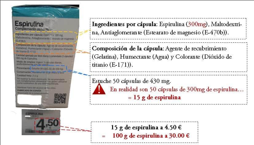 compara precios de spirulina