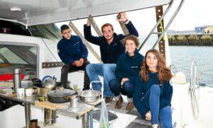 """Foto del grupo que se embarcará """"Nomade des mers"""" ©Le Télégramme Bretagne"""